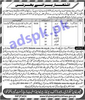 Board of Revenue & Development Department KPK Peshawar Jobs 2019 for