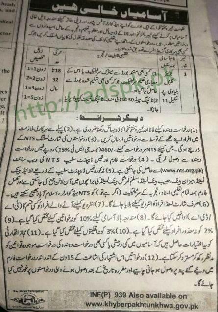 Directorate General of Mines & Minerals Development KPK Jobs 2018 NTS Written Test MCQs Syllabus Paper Junior Clerk Jobs Application Form Deadline 13-03-2018 Apply Now by NTS Pakistan