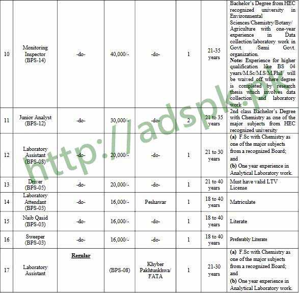 Environmental Protection Agency KPK Project Jobs 2018 NTS Written Test MCQs Syllabus Paper Monitoring Inspector Polymer Chemist Training Coordinator Environmentalist Analyst Air Analyst Water Computer Operator Junior Analyst Lab Assistant Jobs Application Form Deadline 03-04-2018 Apply Now by NTS Pakistan