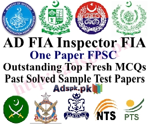 1140 FIA Jobs Sample MCQs Paper for All Positions