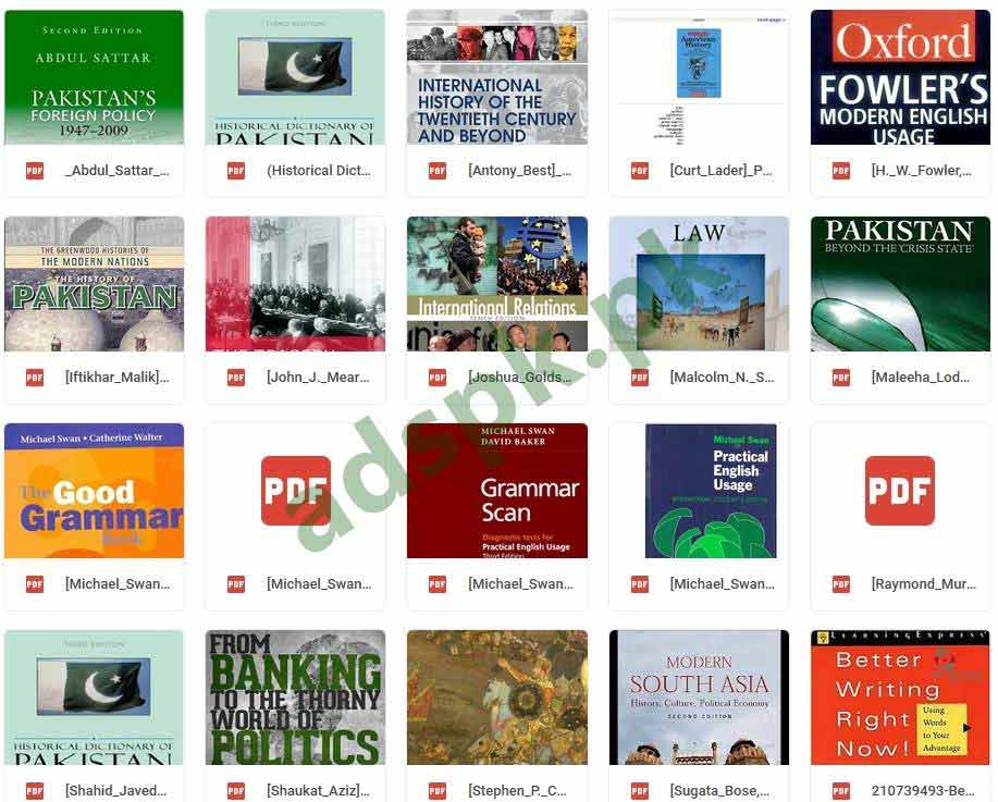 FPSC PDF CSS Books 2019 Download Free these books are