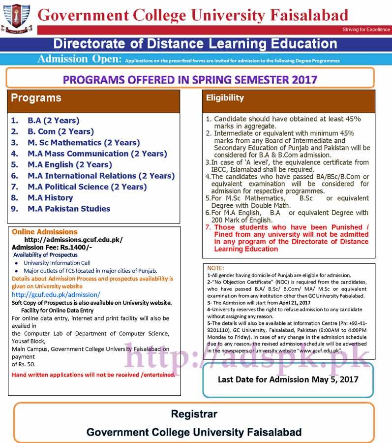 Gcuf merit list 2012 mba