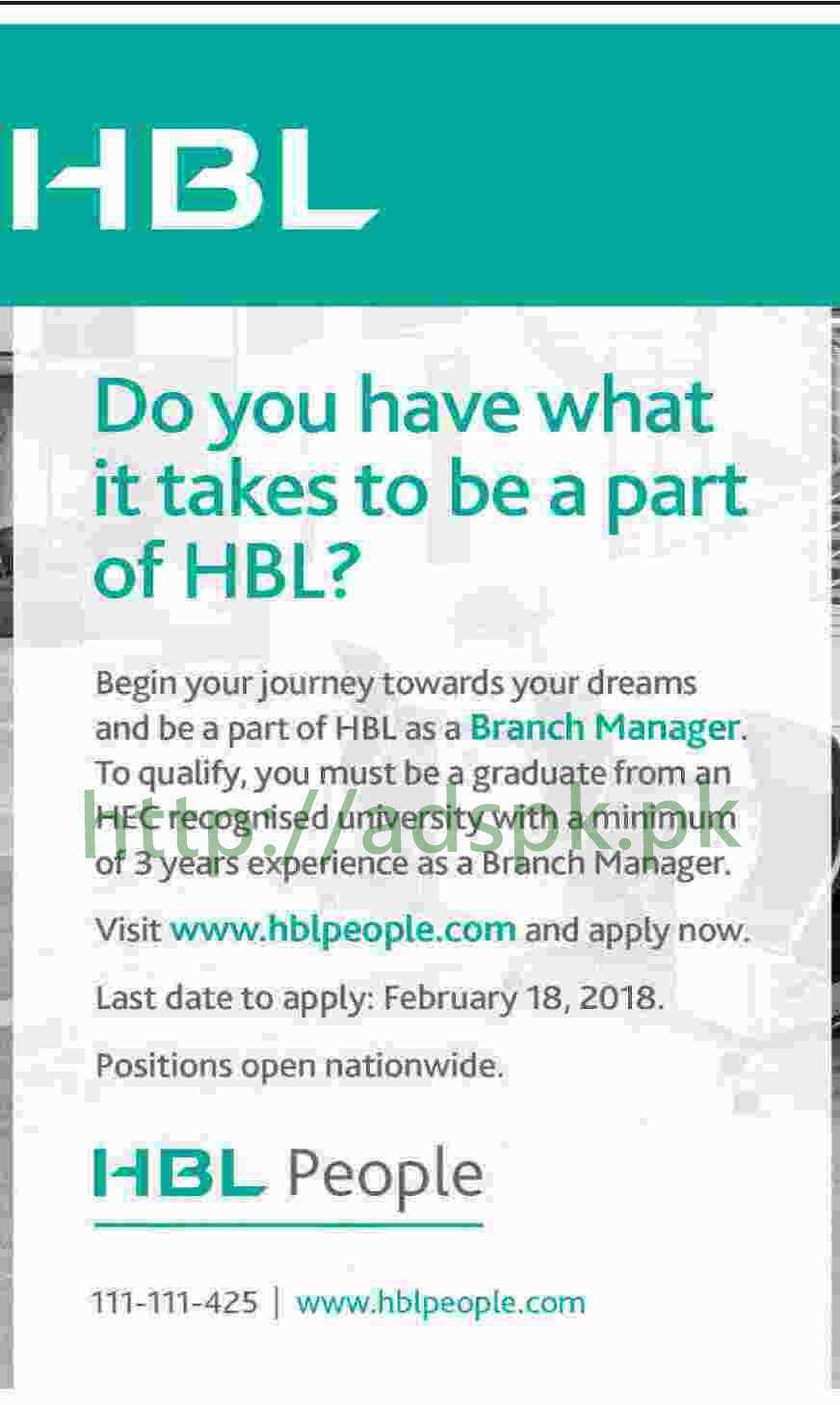habib bank limited jobs online apply