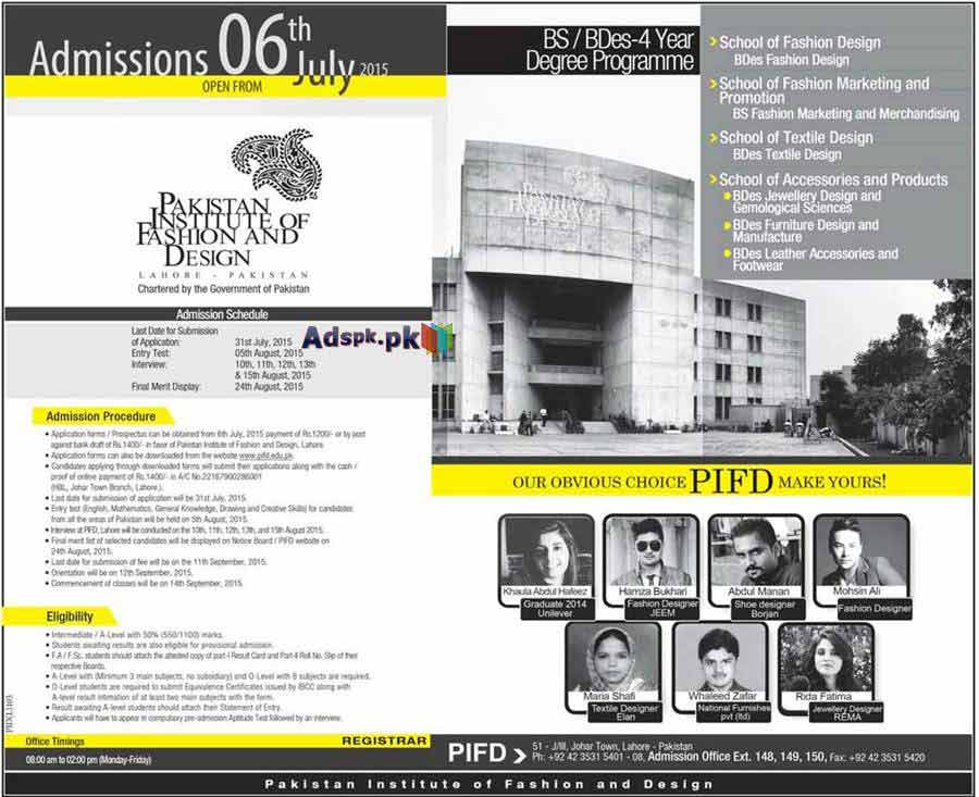 Pakistan Institute Of Fashion And Design Islamabad