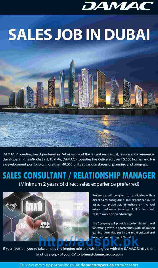 relationship manager jobs in uae