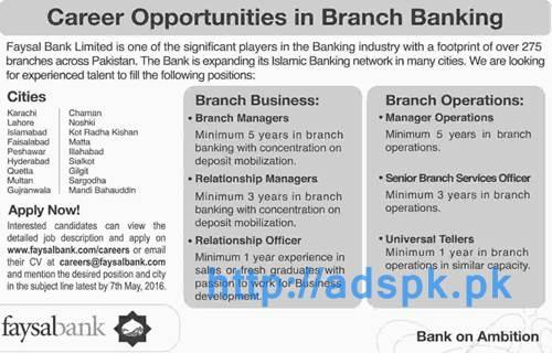 Faysal Bank Locations