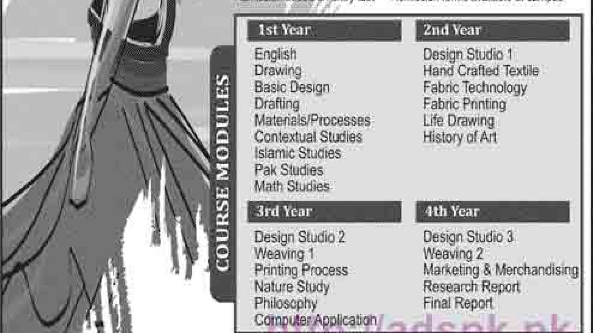 Lahore School Of Fashion Design Admissions Open 2016 2017 For Textile Designing Degree Programs Application Form Deadline 15 11 2016 Apply Now Adspk Pk Very Helpful For Students And Jobless People