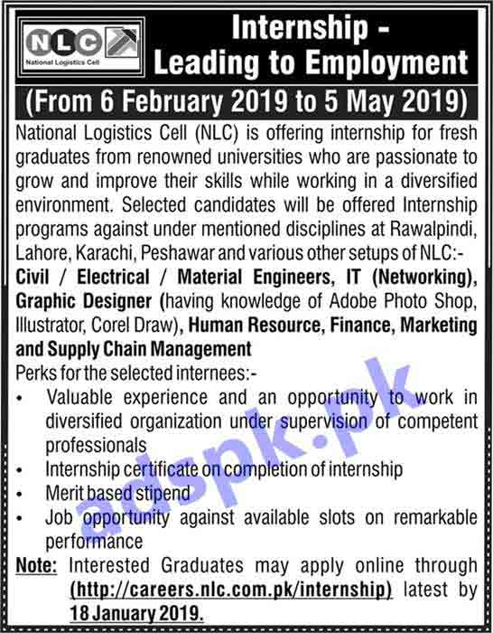 NLC Internship Program 2019 for Fresh Graduates Application Form Deadline 18-01-2019 Apply Online Now