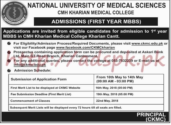 National University of Medical Sciences CMH Kharian Medical