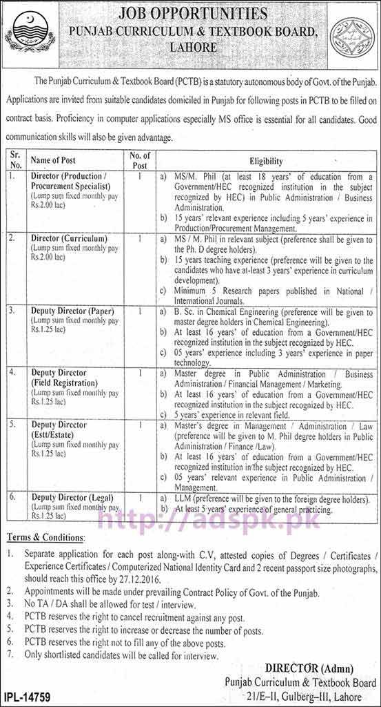 latest govt jobs in pakistan  lahore  karachi  islamabad