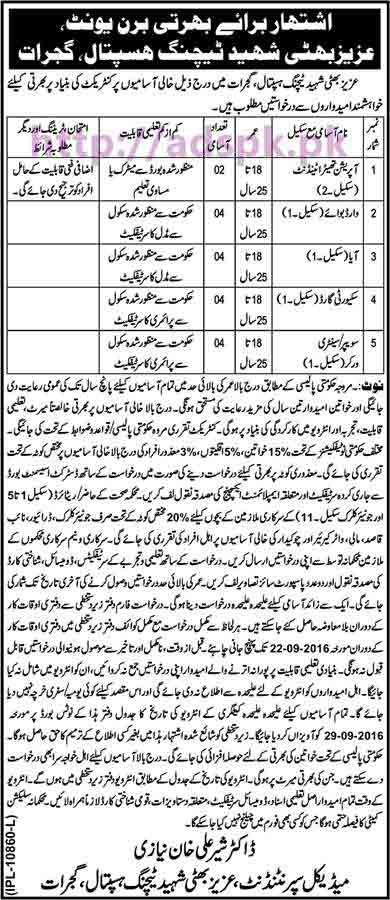 New Career Jobs Burn Unit Aziz Bhatti Shaheed Teaching ...