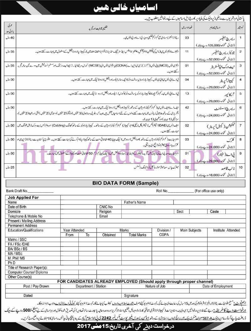 New jobs pakistan army po box 2242 gpo islamabad jobs 2017 for new jobs pakistan army po box 2242 gpo islamabad jobs 2017 for research officers network admin falaconquin