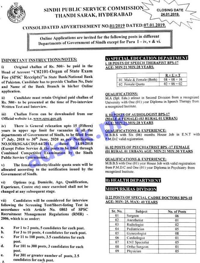 Spsc Ad No 01 2019 Jobs Written Test Mcqs Syllabus Paper Inspector
